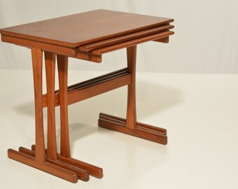 Danish Teak Nesting Tables for Moreddi