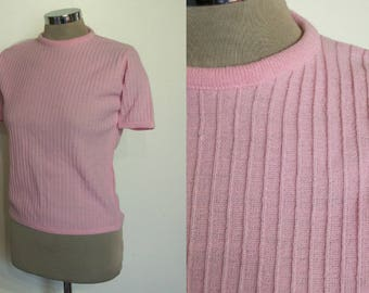 """Adorable 1960s ribbed knit top bust 34"""" NOS  unworn! Mod"""