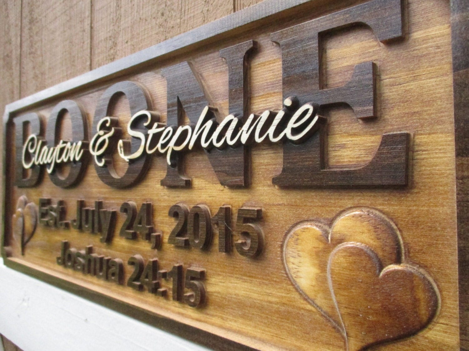 Blessed Wedding Gifts Custom Family Name Signs Personalized 5th Anniversary Gift Last Established Bible