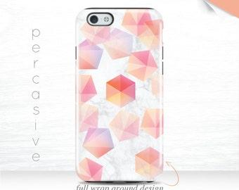 iPhone 7 Case Pastel Geometric iPhone 6 Plus Case Cute iPhone 5s Case White Marble iPhone 6s Case, iPhone 7 Plus Case Abstract 13s