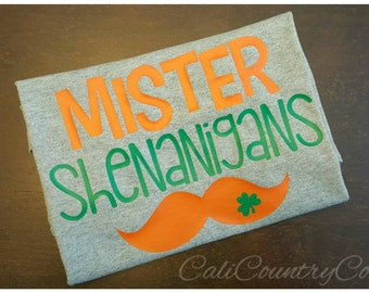 Mr. Shenanigans Shirt, Boys St. Patrick's Day Shirt
