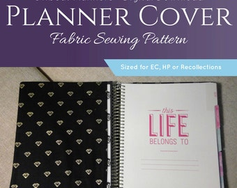 Fabric Planner Cover Sewing Pattern - Digital Download Pattern and Instructions