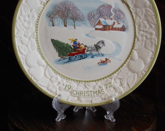 """Songs of Christmas """"Jingle Bells"""" Vernon Ware Collector's Plate (1972)"""