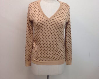 1980s GIVENCHY  Sweater / 80s Vintage Knit Pullover / Size medium
