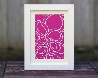 Framed 5x7 Inch Dahlia Paper Cut (Other Colours Available)