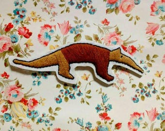 Anteater Iron On Patch - Hand Embroidered