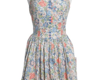 Vintage Re Worked 1950's Floral Halterneck Dress 10 - www.brickvintage.com