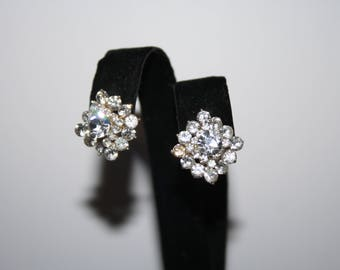 Beautiful Vintage Crystal Post Earrings Bridal Jewelry