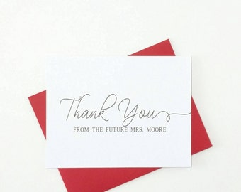 Wedding Thank You Note Cards with Envelopes/Wedding Thank You Cards Bridal Shower/Blank Notecards/Paperienco/Stationary Set of 12