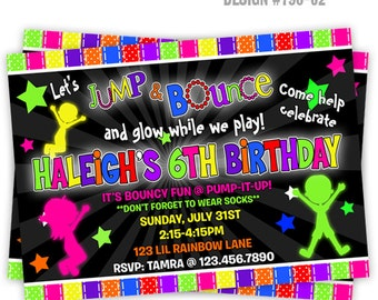 798-02: DIY - Glow In The Dark 7 Party Invitation Or Thank You Card