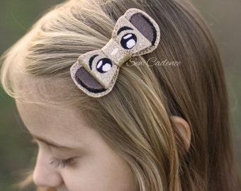 Lion Cub Bow ~ Guard Lion Bow ~ Simba King Bow ~ Lion Birthday ~ Animal Kingdom Bow ~ Zoo Birthday Bow ~ Wildlife Safari Bow ~ Big Cat Bow
