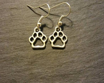 Paw Print Charm Earrings for Dog & Cat Lovers