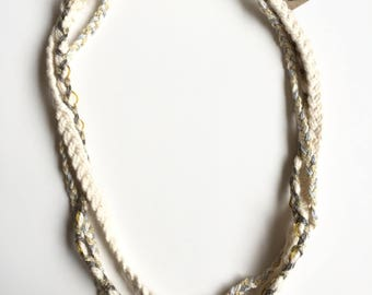 Winter Cotton Rope Necklace