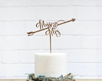 Bridal Shower Cake Topper Customized Wedding Cake Topper, Personalized Cake Topper for Wedding, Miss to Mrs Cake Topper-01