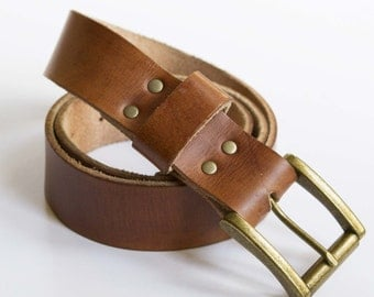 leather boyfriend belt with custom buckle