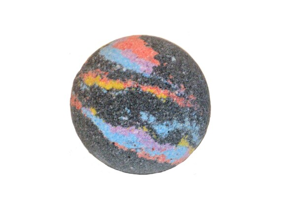 SPACE Bath Bomb - Hemp Seed & Olive Oil Helps to Hydrate the Skin - / Vegan / Bath Bomb / Galaxy / Cosmos / Planets / NASA / Universe