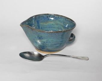 Small Blue Batter Bowl