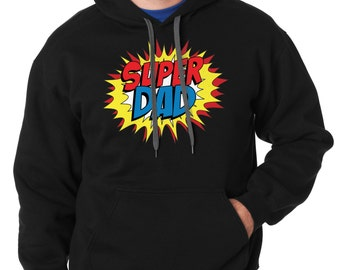 Super Dad Hoodie Gift For Father Hooded Sweatshirt Father's Day Gift