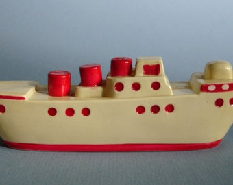 Vintage Celluloid Toy Boat Ship Rattle? NACK