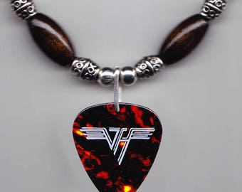 Eddie Van Halen Signature Brown 1984 Guitar Pick Necklace
