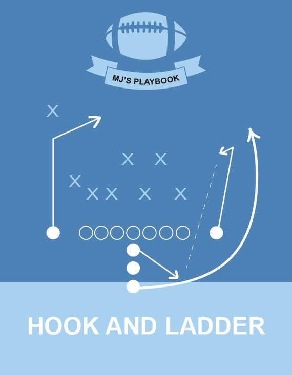Football Playbook Customizable Prints- 4 designs, 4 colors