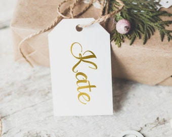 Personalized name gold foil gift tag / gold foil christmas gift tag /gold foil holiday gift tag/ custom gift tag / personalized gift tag