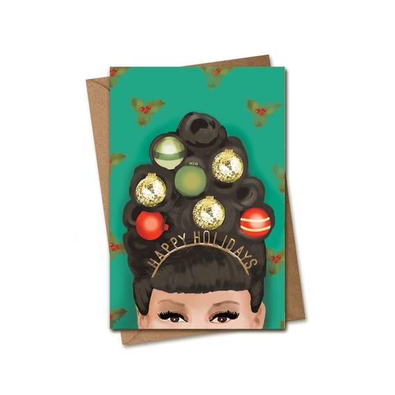 Christmas Card. Christmas Updo