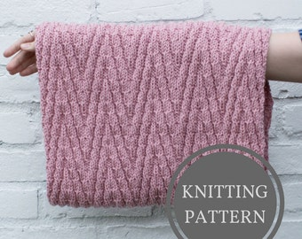 Minnewanka Cowl Pattern | Beginner Knitting Pattern | Easy Knit Scarf Pattern | Circle Scarf Knitting Pattern | Infinity Knit Scarf Pattern