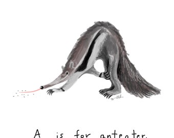 A is for Anteater Print