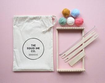 Weaving Loom Kit + Pastel Wools