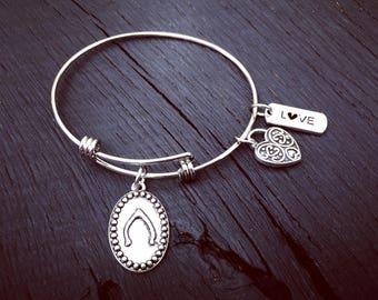 Wishbone Bracelet   Wishbone Jewelry   Stackable Expandable Bangle Bracelet   Stainless Steel Bangle Bracelet   Arm Candy