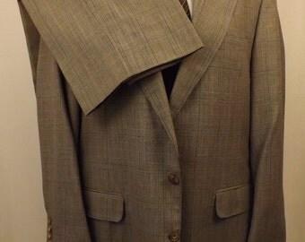 70s Corbin Gray Glen Plaid Men's Suit Size 40 R