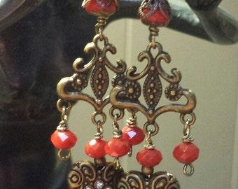 Valentine Chandelier Heart Earrings