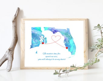 Family Map Etsy - Send us map