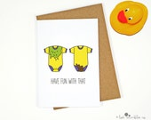 Funny New Babies Card ∙ Twins Card ∙ Pregnancy Card ∙ Congrats Card ∙ Congratulations Card ∙ Expecting Card ∙ Have Fun With That (Twins)