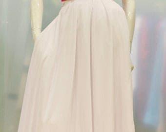 Wedding Maxi Skirt, Chiffon Maxi Skirt, Custom-made Dress, Wedding Skirt, Bridal Dress, Long Wedding Skirt, Wedding Dress, Wedding Separates