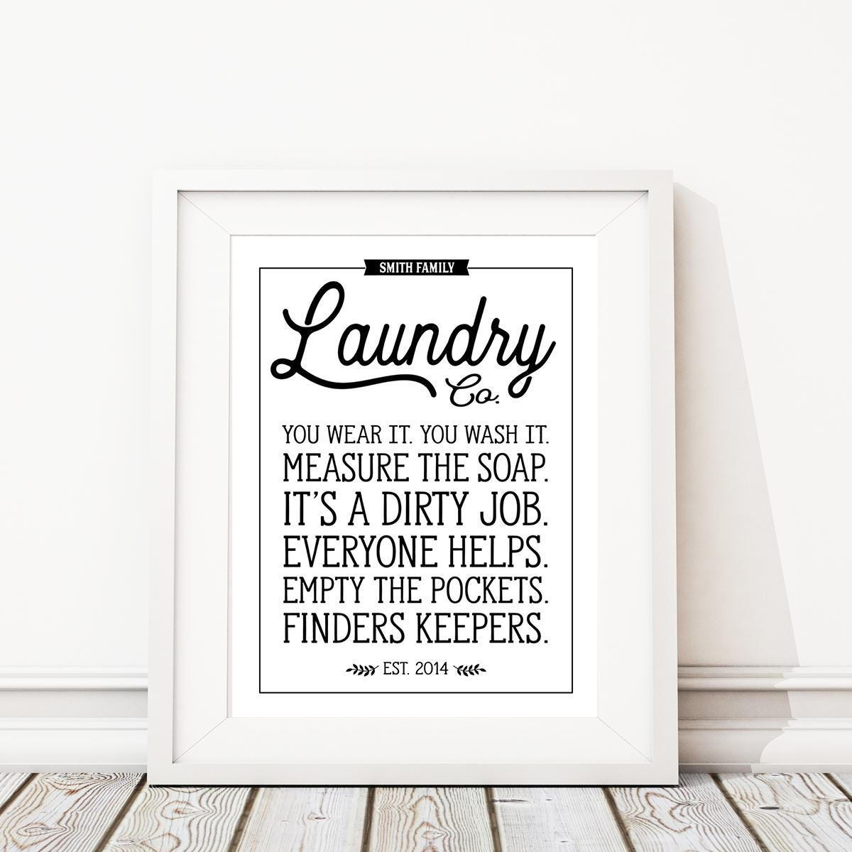 Laundry Room Pictures To Print Laundry Room Rules Art Printlaundry Signlaundry Room Sign