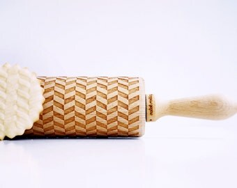 TWEED, LINES - Embossing rolling pin, laser engraved rolling pin