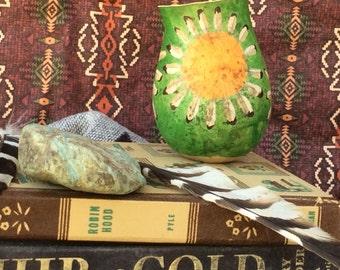 Green mandala gourd, decorative gourd