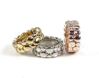 Charm Bead, Charm Bracelet Bead, Rose Gold Charm, Silver Charm, Gold Charm, Large Hole Bead, Charm Bead, Bracelet Charm