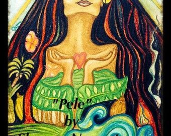 Goddess Pele - Signed & numberedl 8x10 print by Shawna Namaste'