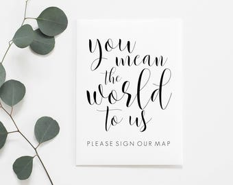 Printable Sign Our Map. Sign Our Map Printable. Sign Our Map Sign. Map Guestbook. Map Guest Book. Wedding Map Guestbook. Wedding Map Sign.