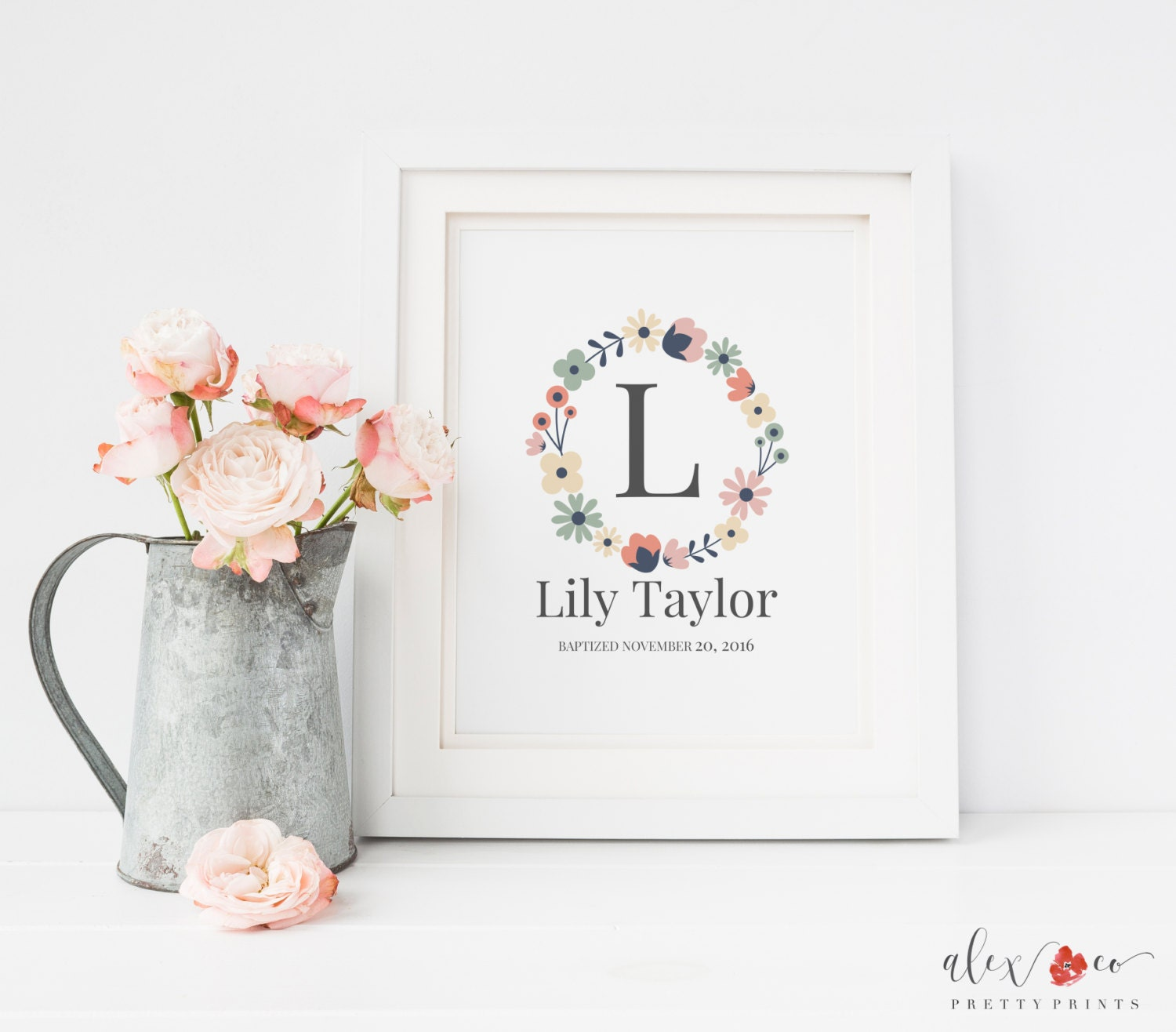 Just Had A Baby Gift Ideas : Personalized baby girl gift nursery printables wall