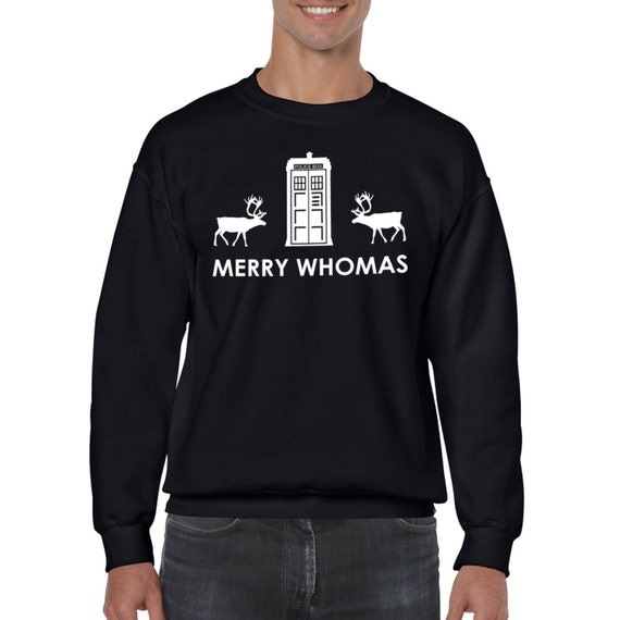 Dr Who Christmas sweater. Merry Whomas Christmas Jumper shirt Dr Who fan Christmas Gift, present for a Whovian
