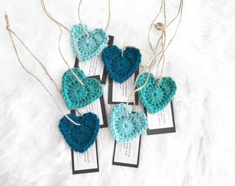 6 crochet hearts for the #gmthearts project | applique | bunting | accessories | spread love