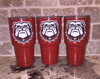 UGA / Georgia Bulldog 30 oz Red Yeti Rambler