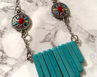 Western-Inspired Turquoise Statement Necklace