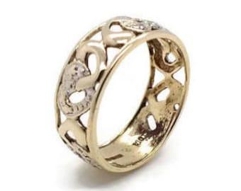 Wedding Ring, Wedding Band, Women's Wedding Ring, Diamond Cut Wedding Ring, Diamond Wedding Ring, Diamond Wedding Band, Gold Wedding Band