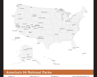 photograph regarding Printable National Park Checklist identify Countrywide Park Etsy -
