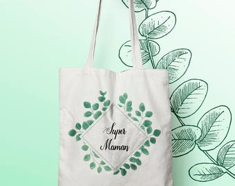 W108Y tote bag great MOM, custom tote bag, bag stuffs all, mother's bag, bag shopping bag run, diaper bag, tote bag where